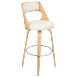 Cecina Bar Stool in Natural & Cream