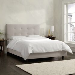 Velvet Upholstered Panel Bed
