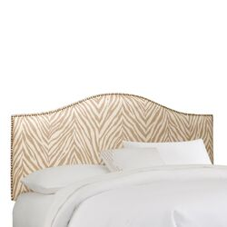 Nail Button Fabric Upholstered Headboard by Skyline Furniture