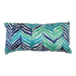 Tropical Leaves Embroidered Pillow