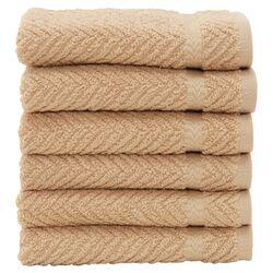 Luxury Hotel & Spa Herringbone Weave 100% Turkish Cotton Wash Cloth