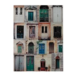 Collage Door Photography Graphic Art on Canvas (Set of 2)