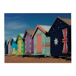 Beach Hut Graphic Art on Canvas (Set of 2)