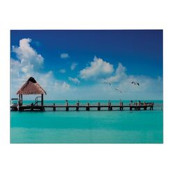 Maldives Photographic Print on Canvas (Set of 2)