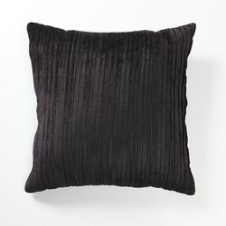 Illusion Venetian Velvet Pleated Pillow in Black