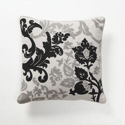 Baroque and Roll Luminaria Pillow in Black