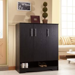 Sadie Modern 9 Shelf Shoe Cabinet
