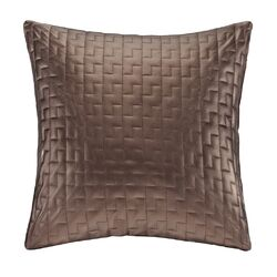 Quilted Metallic Faux Leather Throw Pillow