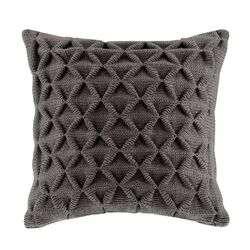 Waffle Knit Square Throw Pillow