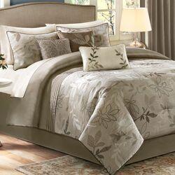 Kayle 7 Piece Jacquard Comforter Set