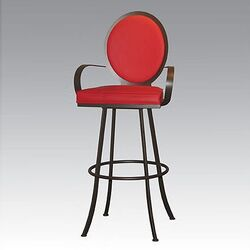 Studio II Contemporary Swivel Barstool with Arms