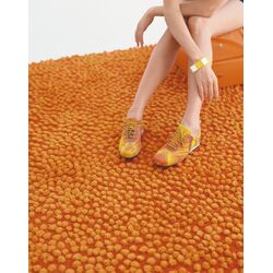Topissimo Simple Orange Area Rug