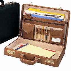 Bellino Leather Attache Case
