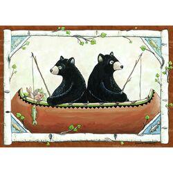 Wildlife Bears in Canoe Rug