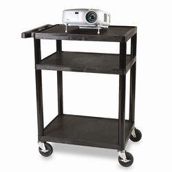 Adjustable Height UL Listed Plastic Duo Utility Cart