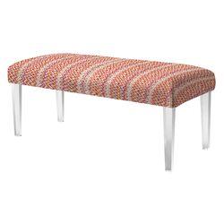 Wave Upholstered Bedroom Bench