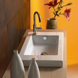 Serie 35 Ceramic Bathroom Sink with Overflow