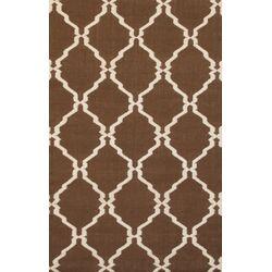 Flat Weave Brown Area Rug