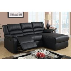 Bobkona Loveseat Plush Seating Recliner Right Chaise