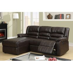 Bobkona Loveseat Plush Seating Recliner Left Chaise