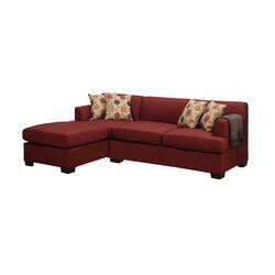 Bobkona Winfred Reversible Sectional with Chaise