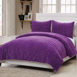 Rose Fur Comforter Set