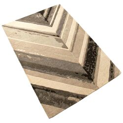 Chevron Hand-Tufted Grey/Ivory Area Rug