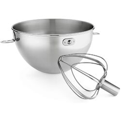 2 Piece 3 Qt. Stainless Steel Bowl and Combi Whip Set for Bowl-Lift Stand Mixers ...