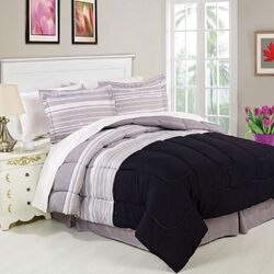 Stipple Stripe 8 Piece Bed in a Bag Set