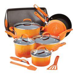Hard Enamel Nonstick 14-Piece Cookware Set
