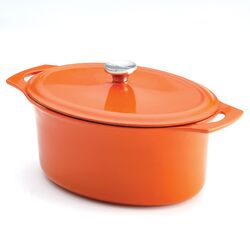 Cast Iron Covered Oval Casserole