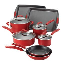 Porcelain Non-stick 12 Piece Cookware Set