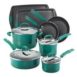 Porcelain Non-stick 12 Piece Cookware Set