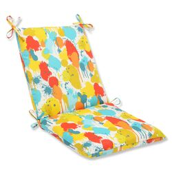 Paint Splash Outdoor Chair Cushion