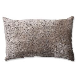 Tuscany Dots Flax Cut Rectangular Throw Pillow
