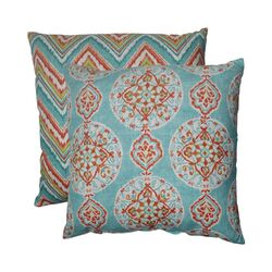 Mirage and Chevron Polyester Floor Pillow