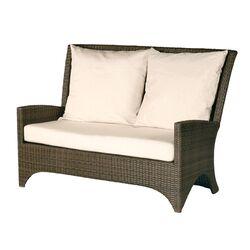 Savannah Woven Deep Loveseat with Cushions