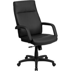 High-Back Leather Executive Office Chair with Memory Foam Padding