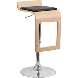 Bar Stool with Vinyl Adjustable Height Seat and Drop Frame