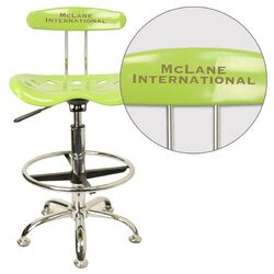 Personalized Drafting Stool with Tractor Seat