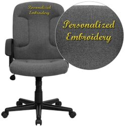 Personalized Mid-Back Executive Chair with Nylon Arms