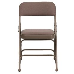 Hercules Series Personalized Upholstered Metal Folding Chair