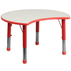 Height Adjustable Cutout Circle Activity Table