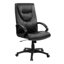 High-Back Leather Executive Swivel Office Chair