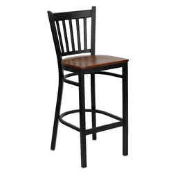 Hercules Series Vertical Back Metal Restaurant Bar Stool