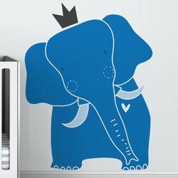 Baby Zoo King Elephant Wall Decal