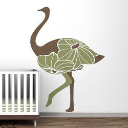 Fauna Floral Ostrich Wall Decal