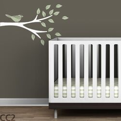 Tree Branches Floral Bird Wall Decal