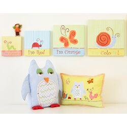 Alphabet Adventure Owl Linen Pillow