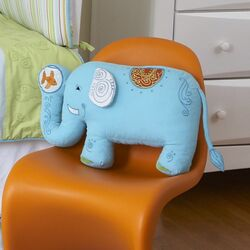Funny Friends Elephant Cotton Pillow